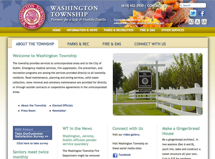 Washington Township Web Portal